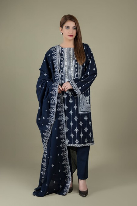 Kayseria Printed & Embroidered 3 Pcs SuitKPN-107
