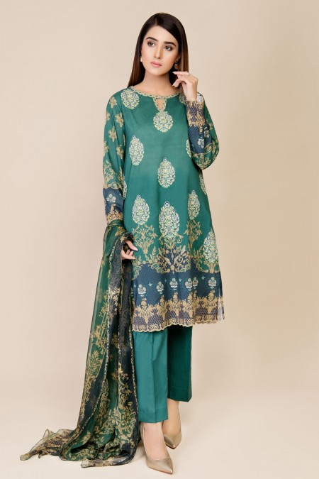 Kayseria Printed & Embroidered Suit KPN-085