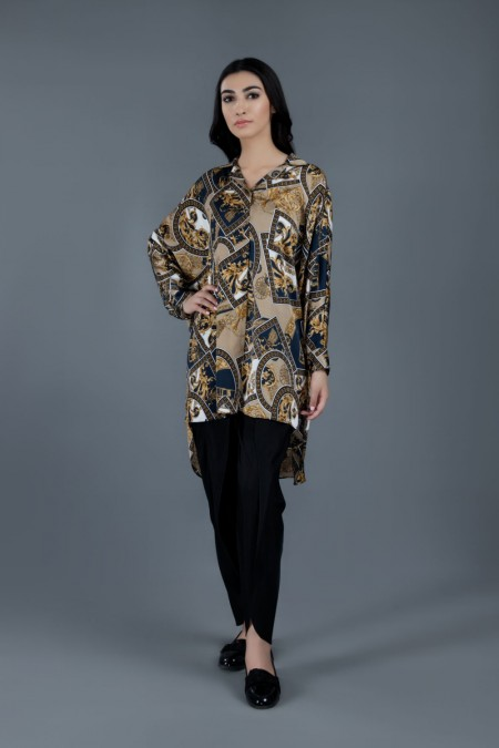 Kayseria Winter 19 READY TO WEAR Baroque Printed TopKPN-240