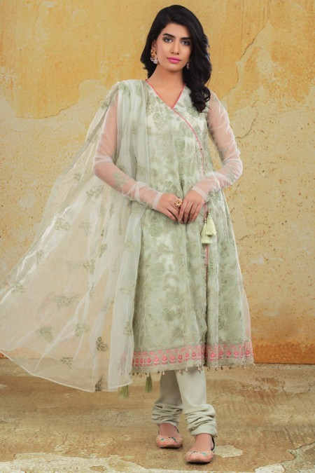 Kayseria Winter 19 Unstitched Collection 2 Pcs Dyed & Embr Suit (Shirt, Dup)KPN-203