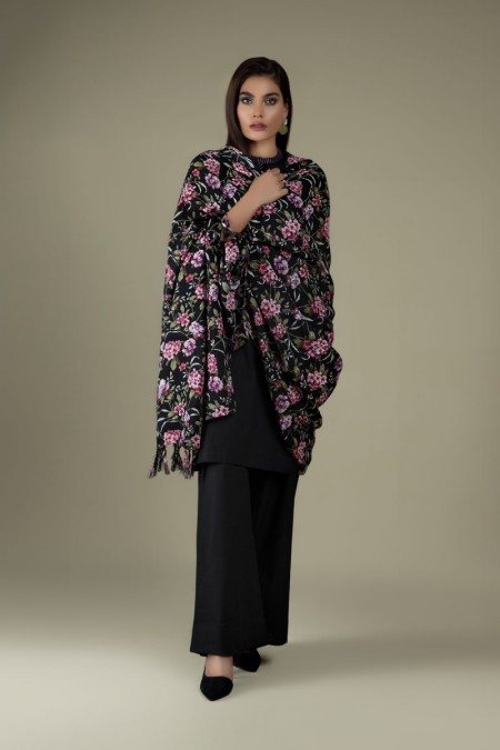Kayseria Winter 19 Unstitched Collection Printed 3 Pcs Suit with wool shawlKPN-233