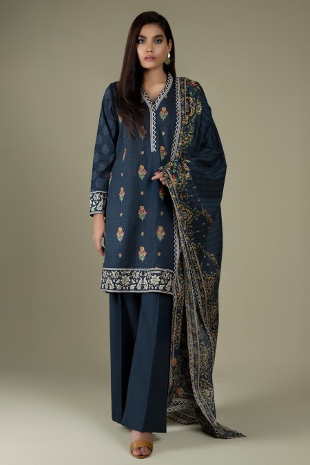 Kayseria Winter 19 Unstitched Collection Printed & Embroidered 3 Pcs SuitKPN-212