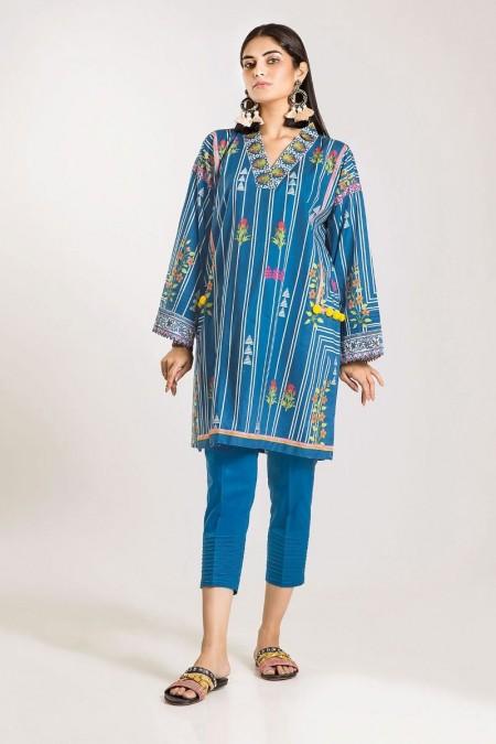 Khaadi Shirt Shalwar CI19501-Blue-2Pc