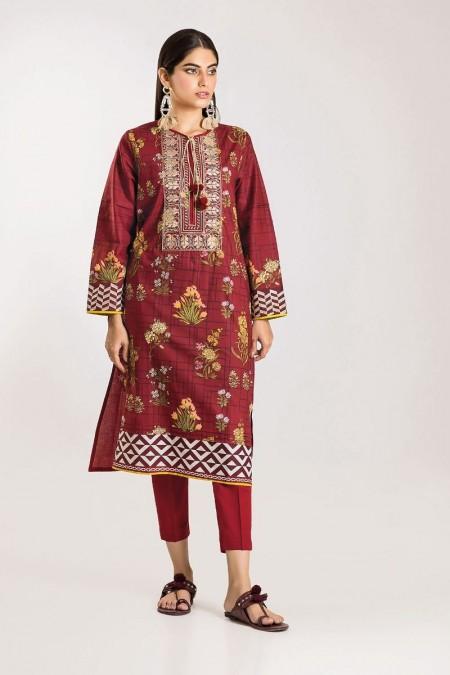 Khaadi Shirt Shalwar CI19503-Red-2Pc