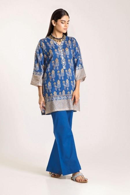 Khaadi Shirt Shalwar CJ19502-Blue-2Pc