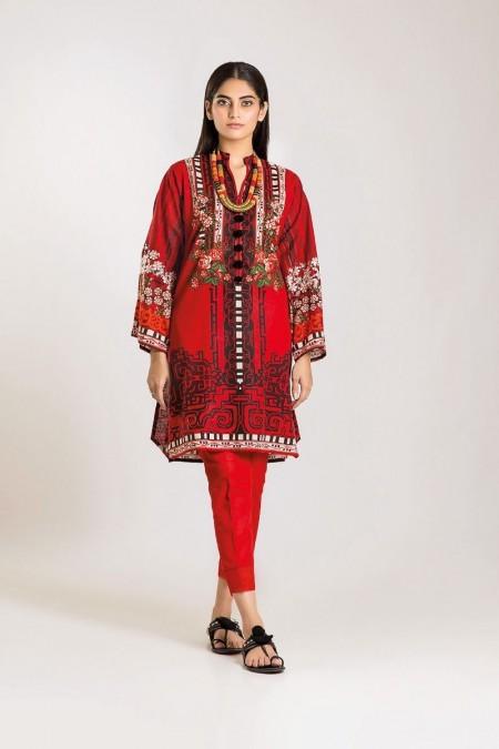 Khaadi Shirt Shalwar KI19503-Red-2Pc