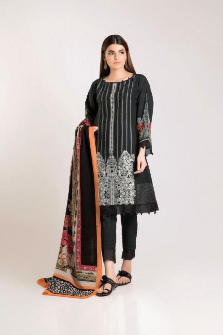 Khaadi Shirt Shalwar Shawl KO19504-Black-3Pc