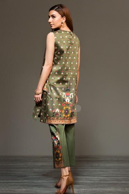 Nishat Linen 41901297 Green Digital Printed Sateen Shirt Fabric PKR 575 (Per Meter) - 1PC