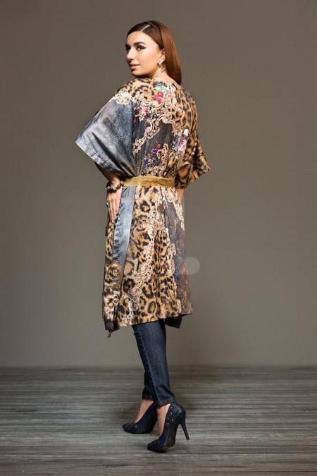 Nishat Linen 41901300 Brown Digital Printed Sateen Shirt Fabric PKR 575 (Per Meter) - 1PC