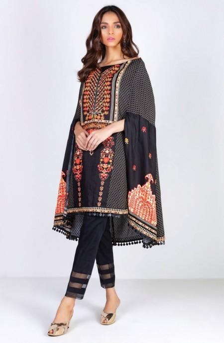 Orient Textiles Winter 19 Unstitched Collection OTL-19-177 B
