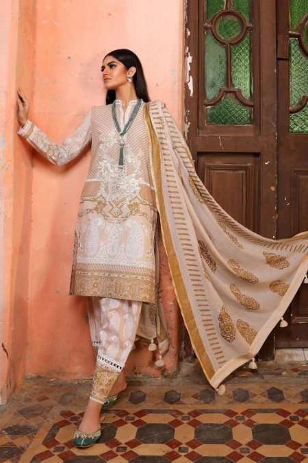 Sana Safinaz B191-008B-CI - Unstitched Fabric - Sale