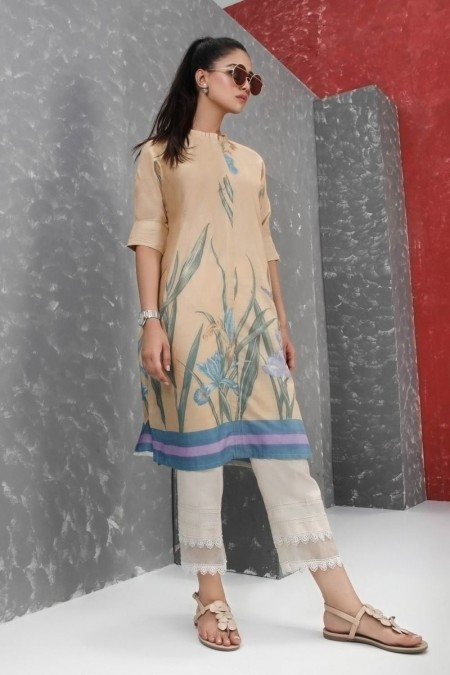 Sana Safinaz D19A-022 - Unstitched Fabric