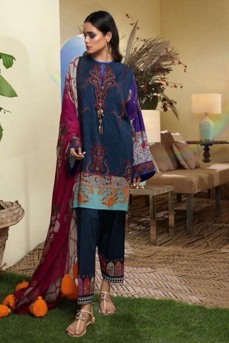 Sana Safinaz M194-003A-AI - Muzlin Winter19 - Unstitched Fabric