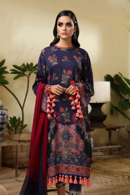 Sana Safinaz M194-004B-AI - Muzlin Winter19 - Unstitched Fabric