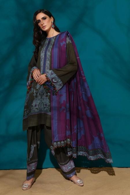 Sana Safinaz M194-005A-AO - Muzlin Winter19 - Unstitched Fabric
