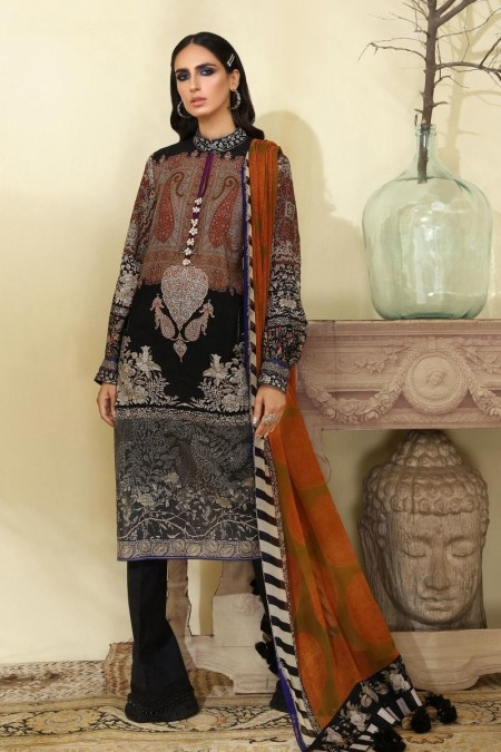 Sana Safinaz M194-006A-AI - Muzlin Winter19 - Unstitched Fabric