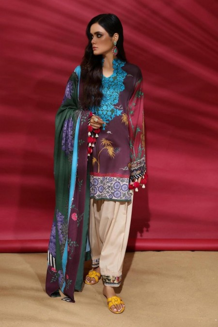 Sana Safinaz M194-007A-CO - Muzlin Winter19 - Unstitched Fabric