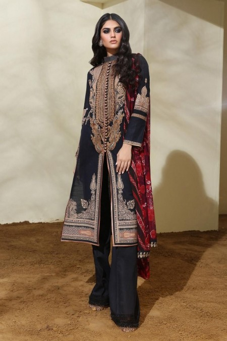 Sana Safinaz M194-008A-CI - Muzlin Winter19 - Unstitched Fabric