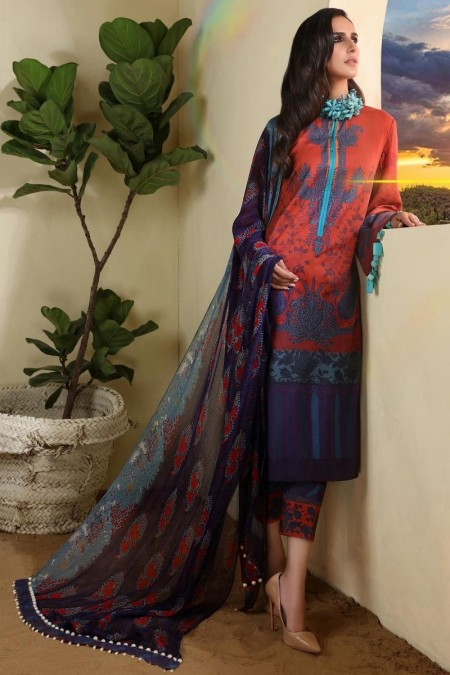 Sana Safinaz M194-012A-AI - Muzlin Winter19 - Unstitched Fabric