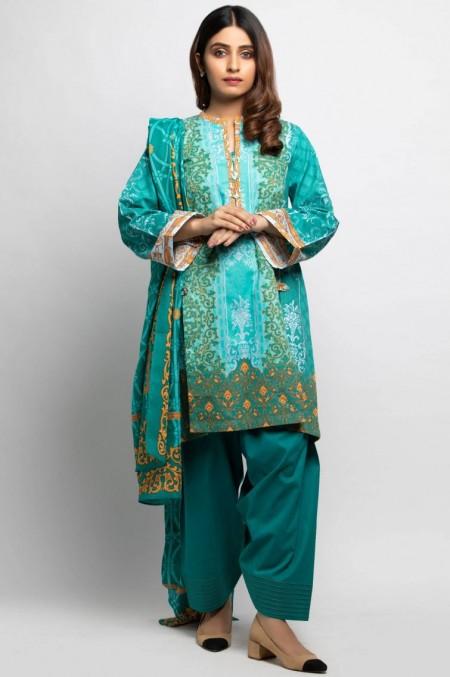 Zeen Woman Unstitched 3 Piece Printed Khaddar601528