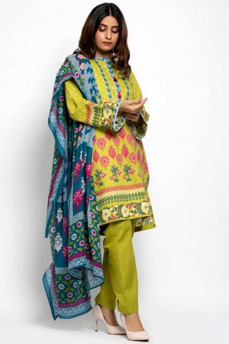Zeen Woman Unstitched 3 Piece Printed Khaddar601529