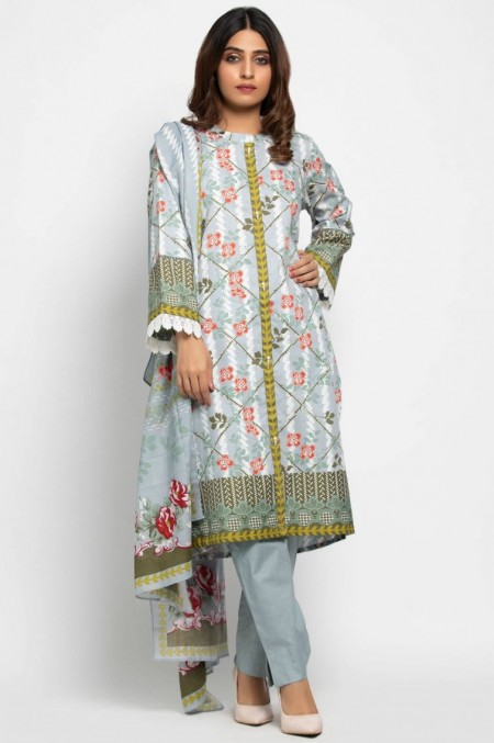 Zeen Woman Unstitched 3 Piece Printed Khaddar601530