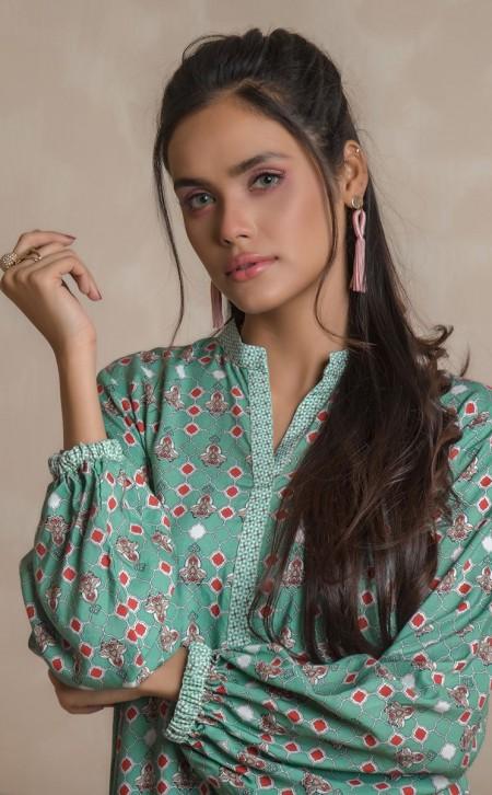 Zellbury Shirt Shalwar - Conch Grey - ViscoseZWUWC219476