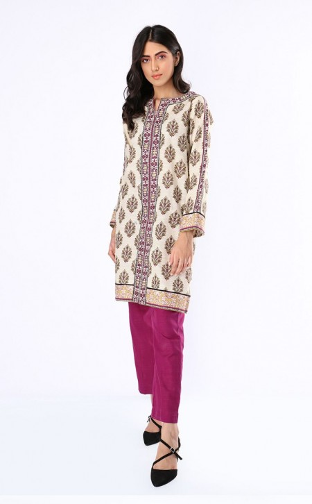 Zellbury Shirt Shalwar - Pearl Bush Grey - KhaddarZWUWC219473