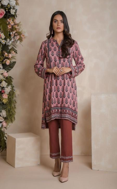 Zellbury Shirt Shalwar - Turkish Rose Pink - ViscoseZWUWC219474