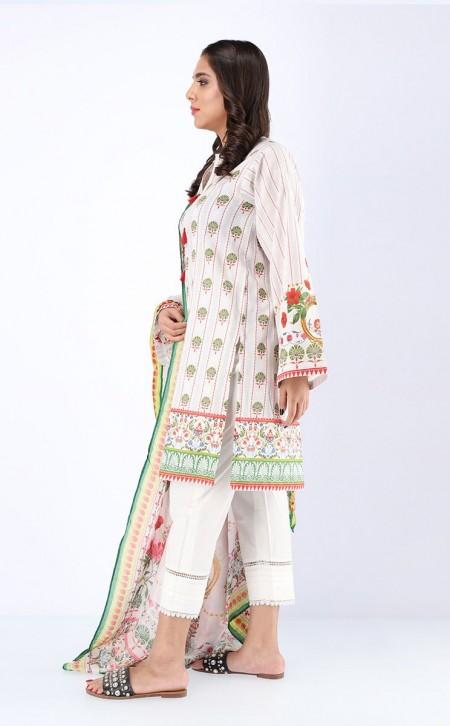 Zellbury Shirt Shalwar Dupatta - Whisper Grey - JacquardZWUWC319513