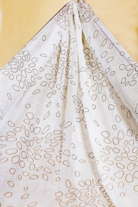 Alkaram Studio 1 Piece Printed Tissue Silk Dupatta FW-SD4-19-2-White