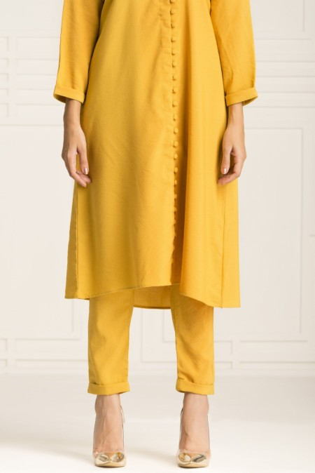 By The Way Fall Winter19 Dijon Mustard Trouser WB00730-MED-MST