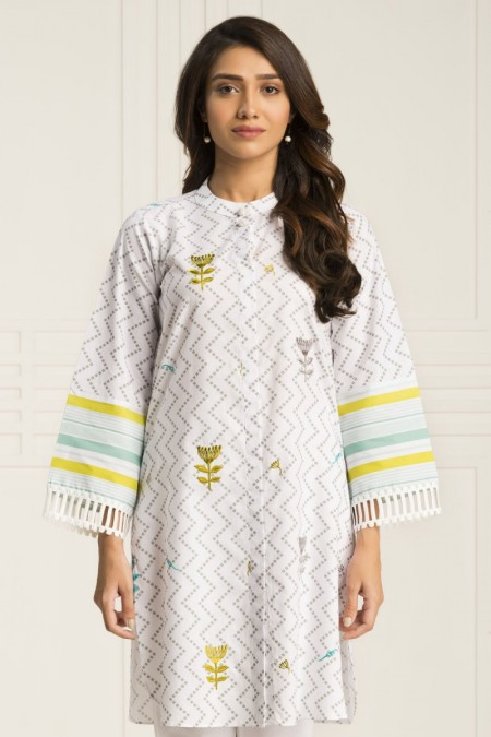 By The Way Fall Winter19 Dotted Zig Zag WRH0687-XSM-WHT