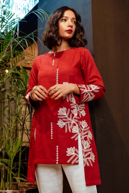 By The Way Fall Winter19 Vermilion WRH0724-MED-MRN