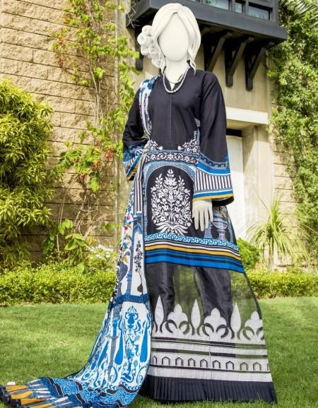 Junaid Jamshed Winter19 Unstitched Collection JJLS-S-JPW-19-1015 FBF-Naaan