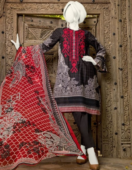 Junaid Jamshed Winter19 Unstitched Collection JJLS-S-JPW-19-1018 FBSiyahi 19-512