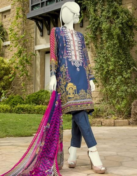 Junaid Jamshed Winter19 Unstitched Collection JJLS-S-JPW-19-1020 FBOrchid Blue 19-514