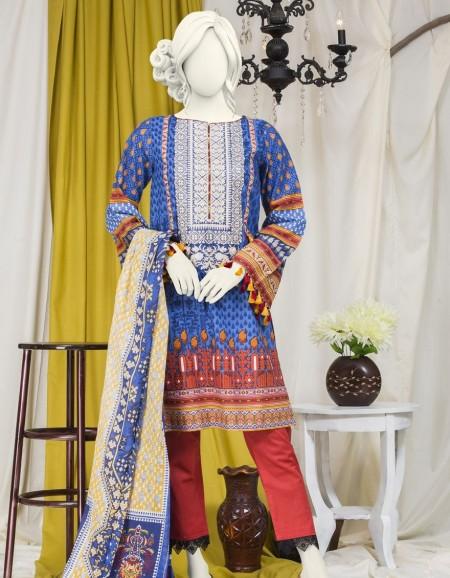 Junaid Jamshed Winter19 Unstitched Collection JJLS-S-JW2-19-7019 FBBlue Breeze 19-522
