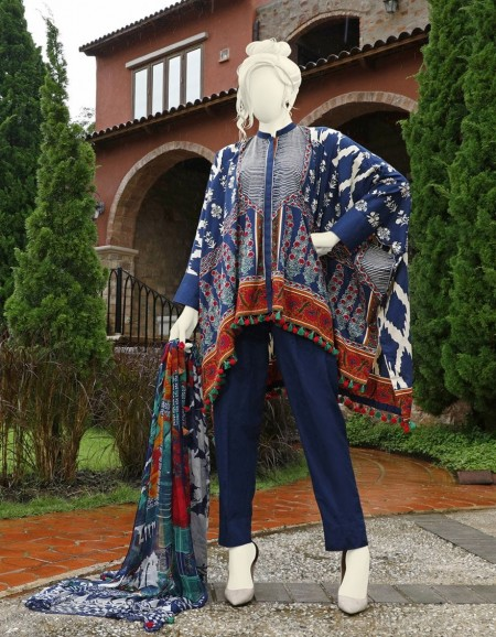Junaid Jamshed Winter19 Unstitched Collection JJLS-W-JW2-19-7021 FBIndigo Highlights