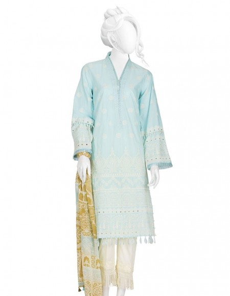 Junaid Jamshed Winter19 Unstitched Collection JLAWN-S-19-247A Blue Kilim
