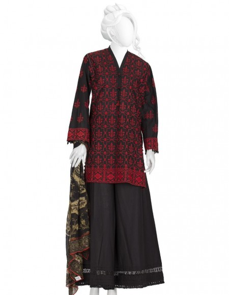 Junaid Jamshed Winter19 Unstitched Collection JLAWN-S-19-248A Bold Schiffli