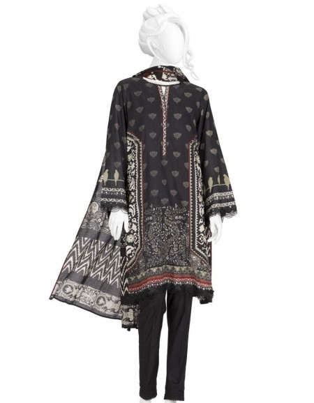Junaid Jamshed Winter19 Unstitched Collection JLAWN-S-19-257 Khaki