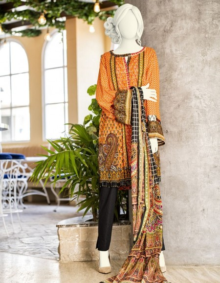 Junaid Jamshed Winter19 Unstitched Collection JLAWN-S-JDS-19-1067A Fuchia
