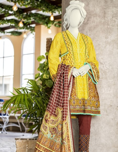Junaid Jamshed Winter19 Unstitched Collection JLAWN-S-JDS-19-1067B Fuchia