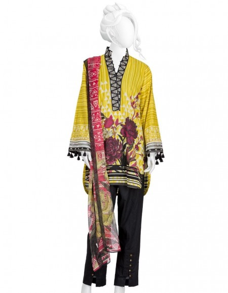 Junaid Jamshed Winter19 Unstitched Collection JLAWN-S-JDS-19-1074 Escence of Gold