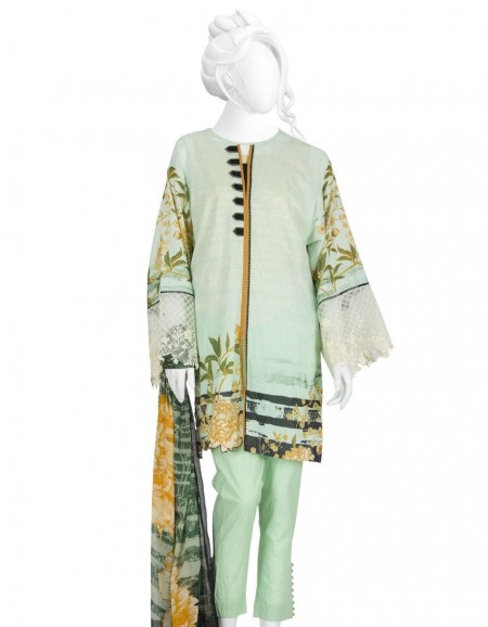 Junaid Jamshed Winter19 Unstitched Collection JLAWN-S-JDS-19-1077 White Flower