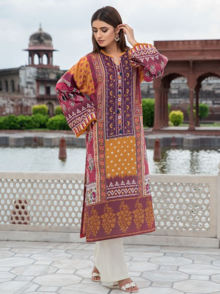 LimeLight Cambric Unstitched Collection 2-Pc Cambric Suit U0698-2PC-RED