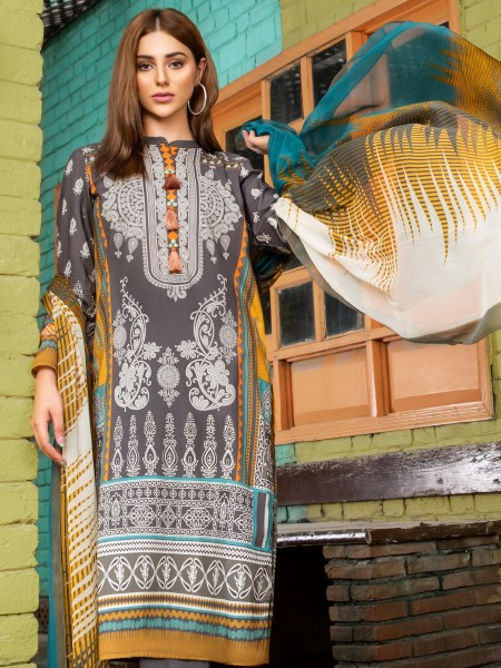 LimeLight Cambric Unstitched Collection 2-Pc Cambric Suit U0804-2PC-YLW