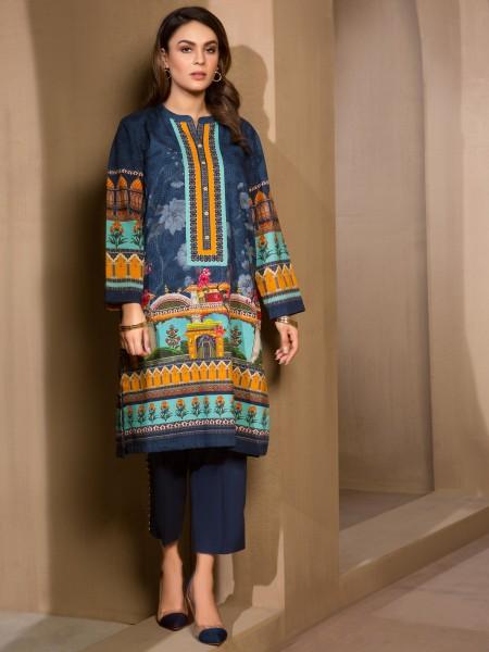 LimeLight Winter19 Unstitched 2-Pc Khaddar Suit U0865-2PC-BLU