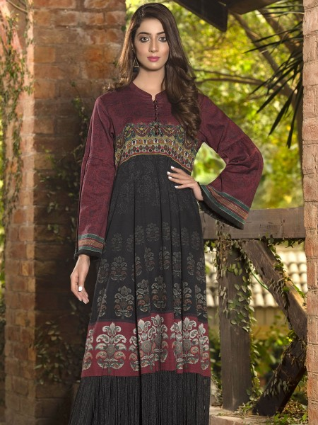 LimeLight Winter19 Unstitched Slub Khaddar Shirt U0931-SSH-BLK